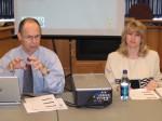 Jon Roberts and Karen Beard at the May 9 EDA meeting