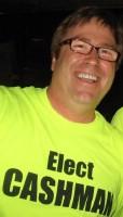 Noah Cashman in an Elect Cashman shirt
