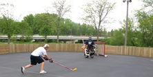 roller hockey rink in Riverside Park