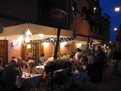 Outdoor dining at night in the Cinque Terre