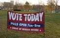 LWV vote sign