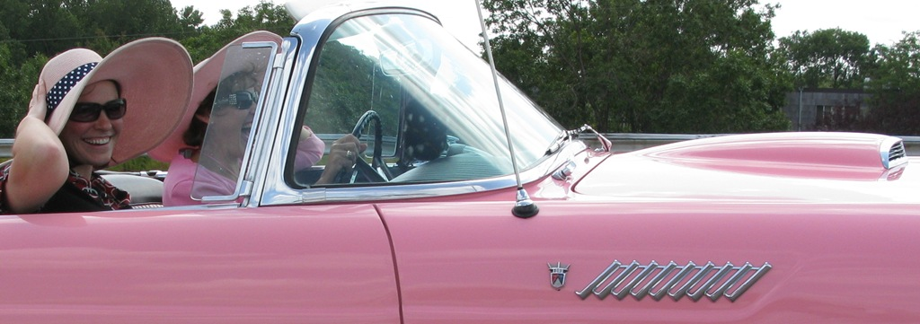 2002 Ford Thunderbird Neiman Marcus. I spotted this pink 1956 Ford
