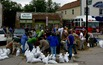 Friday 10:42 am, West side sandbagging
