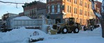 Snow removal downtown. Photo by Barry Cipra