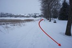 snowmobile tracks in Hidden Valley Park