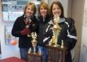 Center: Northfield Raiders Team Manager Cheryl Buck and friends