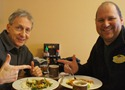 Griff Wigley and Glenn Switzer at Pan Pan Cafe in Nothfield, MN