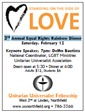 3rd Annual Equal Rights Rainbow Dinner Flyer