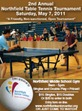 2nd Annual Northfield Table Tennis Tournament