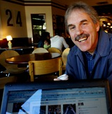 Star Tribune reporter Richard Meryhew at the Goodbye Blue Monday Coffeehouse in Northfield