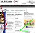 screenshot-Northfield News article about go.northfield.org