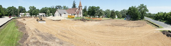 Construction at Rejoice! Lutheran Church in Dundas