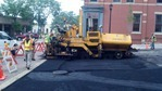 Pavement repairs at 4th and Division