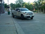 improperly parked truck, owned by former PQQC member Jim Gleeson