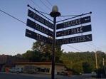 Wayfinding sign, downtown Lanesboro