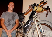Ben Oney and his Tour Divide Salsa Fargo, a drop-bar, off-road adventure bike
