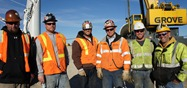 Crew from  Mullen Crane and Transport Company; turbine installation, Carleton College, Northfield, MN