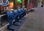 New outdoor seating at the Goodbye Blue Monday