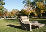 Recliner in Central Park, Northfield