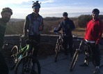 Mountain bikers at Battle Creek Park Reserve