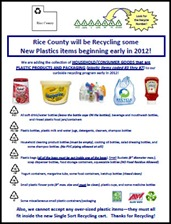 Rice County plastics recycling