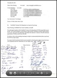 Nfld Fire Dept letter to council
