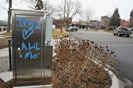 graffiti in downtown Northfield MN