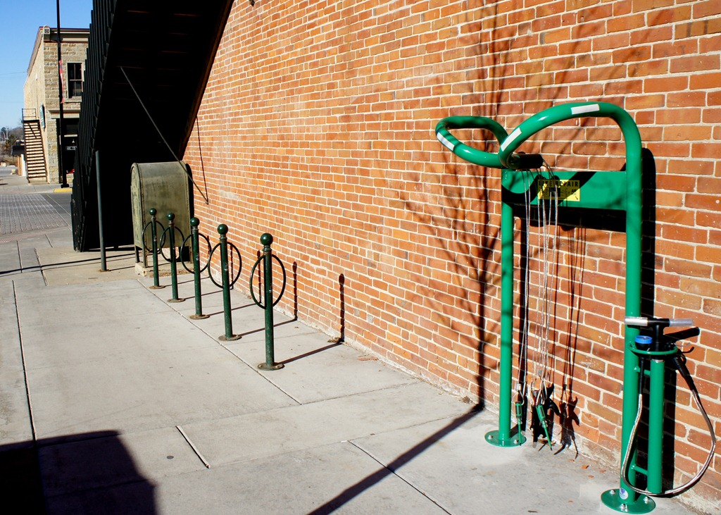 Bike Repair Stand in Northfield, Minn. - courtesy of Locally Grown Northfield Blog