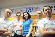 Scott Klein, Evan Watkins, Sue Welch, Tom Bisel and Kevin Keane. (Northfield News photo by Shane Kitzman)