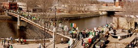 St. Patrick's Day parade, downtown Northfield