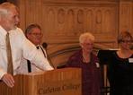 NHS President Scott Richardson with David, Marion, and Susan Hvistendahl