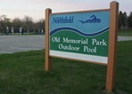 outdoor pool at Old Memorial Park