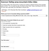 Cannon Valley area mountain bike rides
