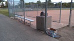 Sechler Park ball field litter