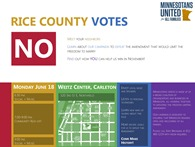 Rice County Votes NO! Flyer