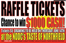 Taste of Northfield 2012 raffle tickets