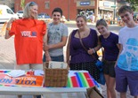 Suzannah Ciernia & colleagues: Minnesotans United for All Families table in Northfield