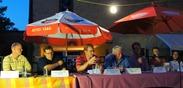 L to R: Wade Schulz, Paul Reiland, Frank Balster, Steve Engler, Joe Gasior, David Ludescher, Betsey Buckheit,