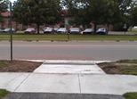 curb cut, Jefferson Park trail at Jefferson Parkway