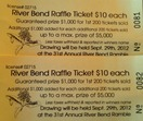 Raffle tickets - 31st Annual Ramble - RBNC