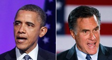Obama and Romney