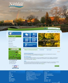 City of Northfield new website