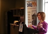 Michelle Breidenbach, BikeMN&#39;s Safe Routes to School Education Coordinator