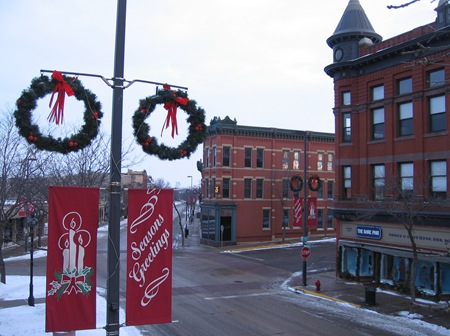 Downtown Northfield at Xmas
