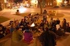 Homelessness awareness on Bridge Square