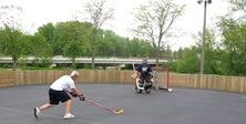 roller hockey rink in Riverside Park