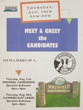 Meet and Greet Candidates poster
