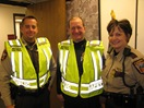 Deputy Blaine Smith, Lt. Nancy Silkey, Sgt. Mark Murphy