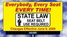 Seatbelt law billboard
