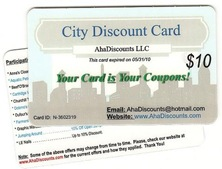 AhaDiscount Card